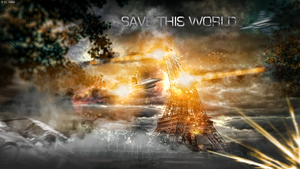 SAVE THIS WORLD - WALLPAPER by NinoGRAPHICS