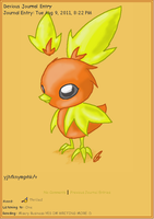 Torchic Journal Skin by AbyssinChaos