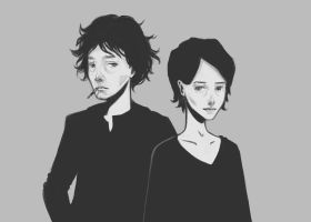 [Black Books]: Bernard and Fran by for-the-last-waltz