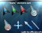 'Dark' glass cursors by sollembum78