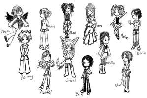 Orignal Character Chibis by evalesco5