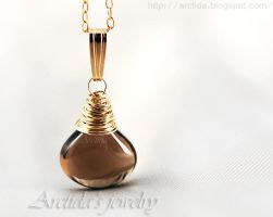 *Laura* Smoky Quartz necklace by Arctida
