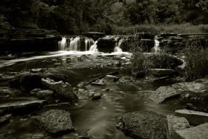 Duotone Waterfall by star-fire