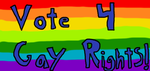 Vote 4 Gay Rights! by luluguineapig