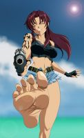 Revy forcing you to worship her Feet by Kazutheking