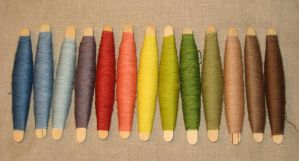 Naturally dyed yarns for sewing and stitching by tanjaESK