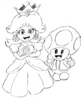 Princess Daisy and Toadette by lilwendel8706