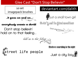 BRUSHES-DoNTSTOPBELIEVIN-glee by dalith