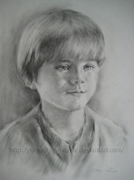 Young Anakin Skywalker by PortraitsbyMayLee