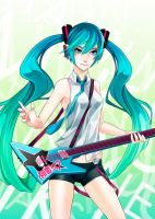 Hatsune miku by titi-artwork
