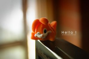 Hello happy rabbit by pincel3d