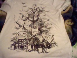 my nightmare before christmas t-shirt by Kingdomhearts1994