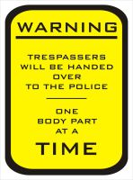 Warning Sign by SouthernDesigner