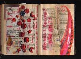 altered book pp. 11 - 12 by Lauraphay
