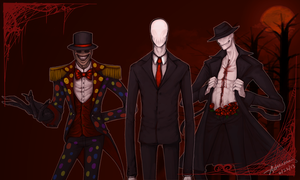 Slender Brothers Wallpaper by SUCHanARTIST13