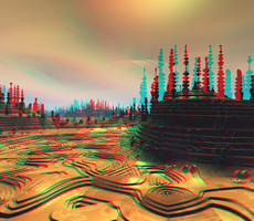 Bunker Anaglyph 3D Stereoscopy by Osipenkov