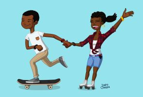 Skate Couple by DPencilPusher