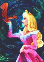 Princess Aurora Coloring Page by MistyTang