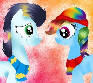 My Little Pony Soarin and Rainbow Dash by Sapphirearts0123
