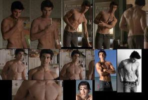 Justin Baldoni SHIRTLESS collage by slayerxy