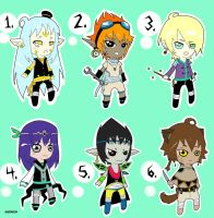 -Adoptables boys- set 1 OPEN name your price by AleKaiLin