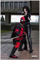 Deadpool And Domino by DPForPrez