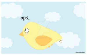 Bird...ops..poo by IdeandoGrafica