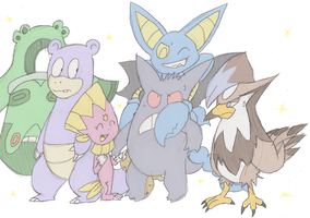 GekkouKitsune's Pokemon Team by EvilSonic2