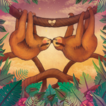 Sloths in Love by puppeteer-for-kings