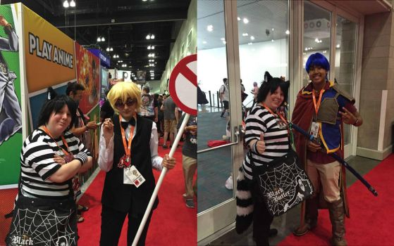Chesh with Other Cosplayers at Anime Expo 16 pt 11 by Black--Cheshire