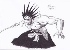 Zaraki Kenpachi (Bleach) by IAmZuo