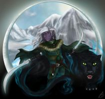 Drizzt and Guen by Aki3b
