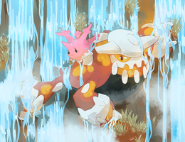 [Day 17 and 18] Corsola and Heatran by PinkGermy