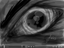 Eye Speed Sketch by mekk33