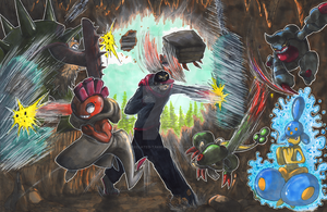 Commission: Super Training Victory Road by matsuyama-takeshi