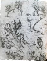 X-MEN Page 1 High School stuff by TheHylden