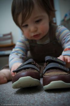 Louie's first shoes by andreasandrews
