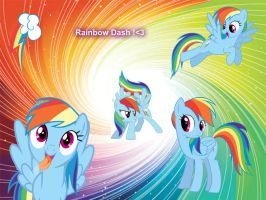 Free Wallpaper Rainbow Dash by MarisaPony
