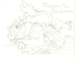 Raggles the fluffy minotaur by payclo3