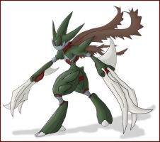 Pokemon fifth gen Scyther evo2 by shinyscyther