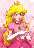 Daily Sketches Princess Peach by fedde