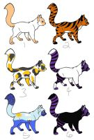 Cat Adoptables - (3/6) OPEN by Kyoushi