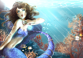 Under the sea by Belliko-art