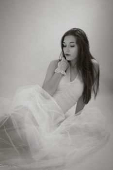 Woman in White by Desire--and--Sin