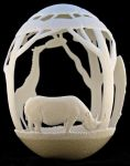 Carved Ostrich egg - 'Africa' by eggdoodler