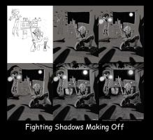 Fighting Shadows Making Off by IngwellRitter