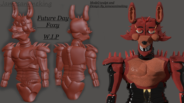 Fnaf Future Day: Foxy the pirate (W.I.P) by jamesanimeking