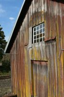 Red and Yellow Barn by KelbelleStock