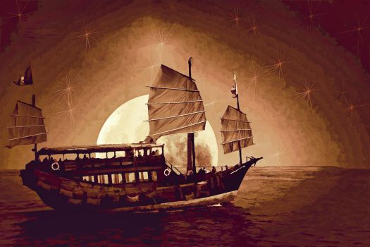 Chinese Junk by Old-Catdude