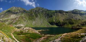 Balea lake panorama by ervin21